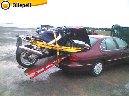 carrello porta moto artigianale