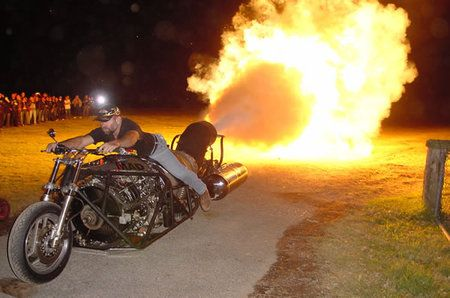 jet powered motorcycle