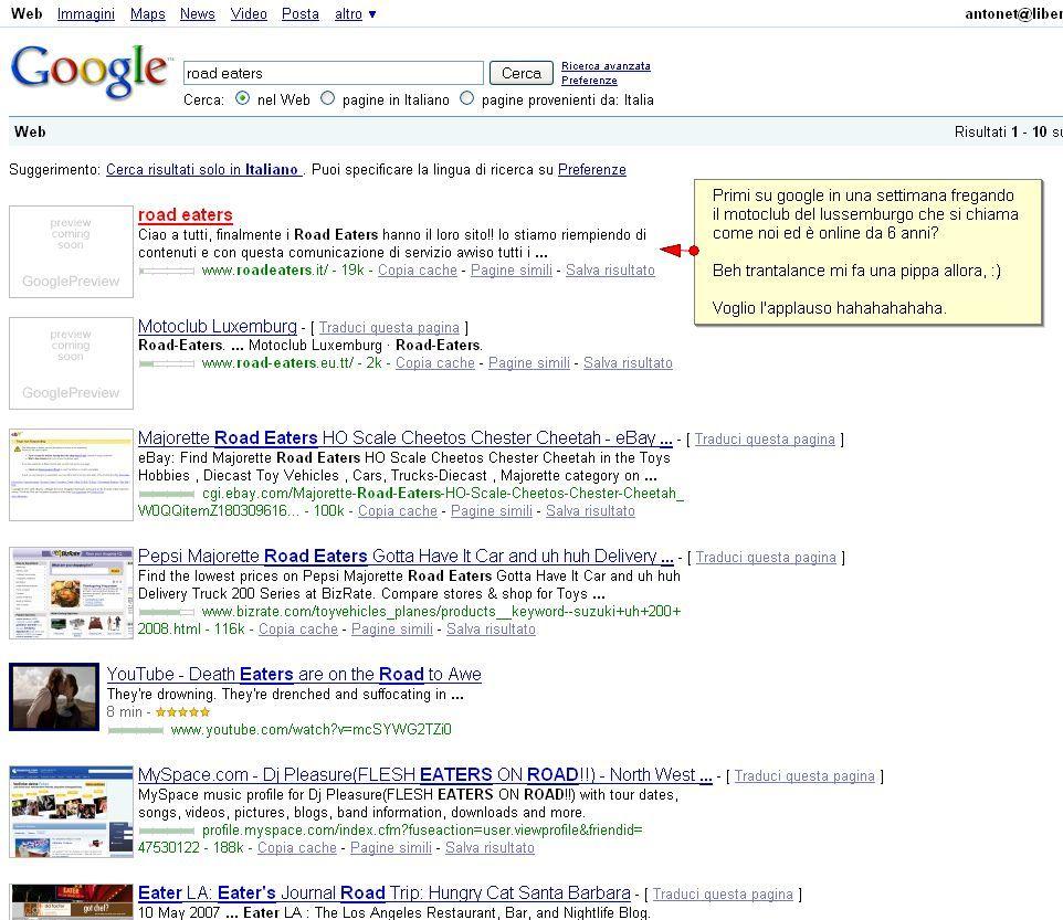 Primi su google, in una settimana
